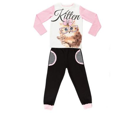 Sada tričko s dlhým rukávom a nohavice pre deti Cat With Glasses