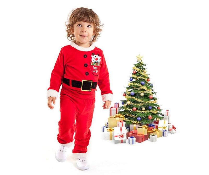 Otroški komplet - majica in hlače Christmas  Santa Boy 2 let