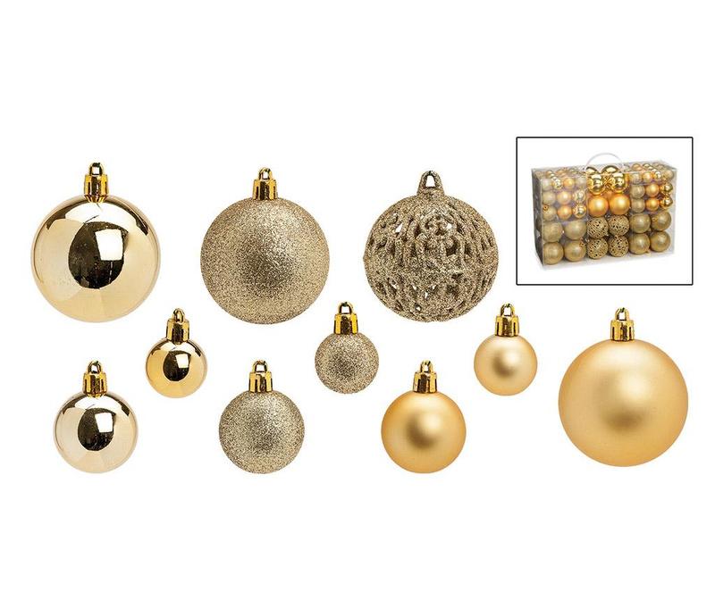 Set 100 globuri decorative Festive Gold