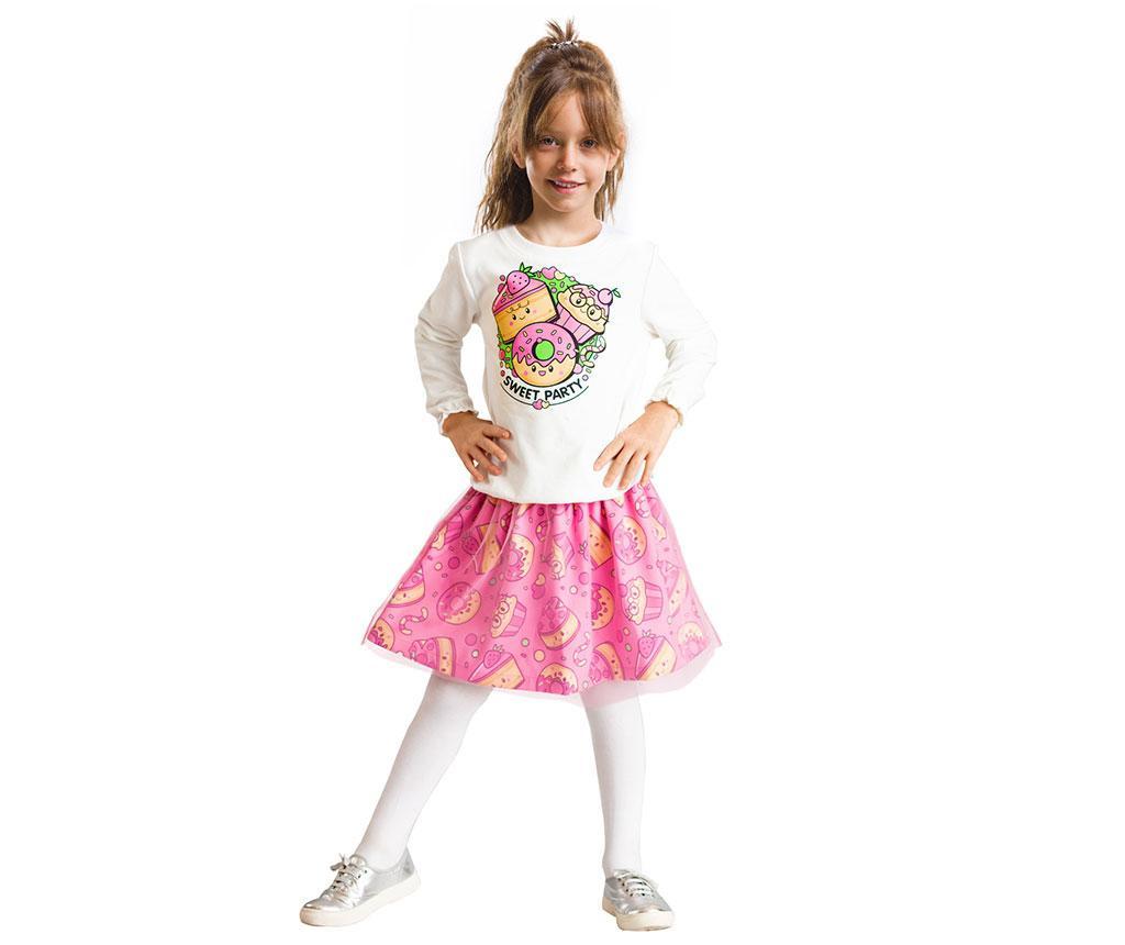 Set bluza si fusta copii Sweet Party 5 ani