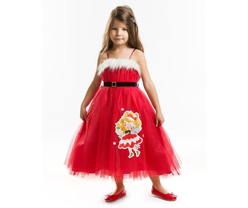 Rochie fara maneci pentru copii Tulle Christmas Fairy 4 ani