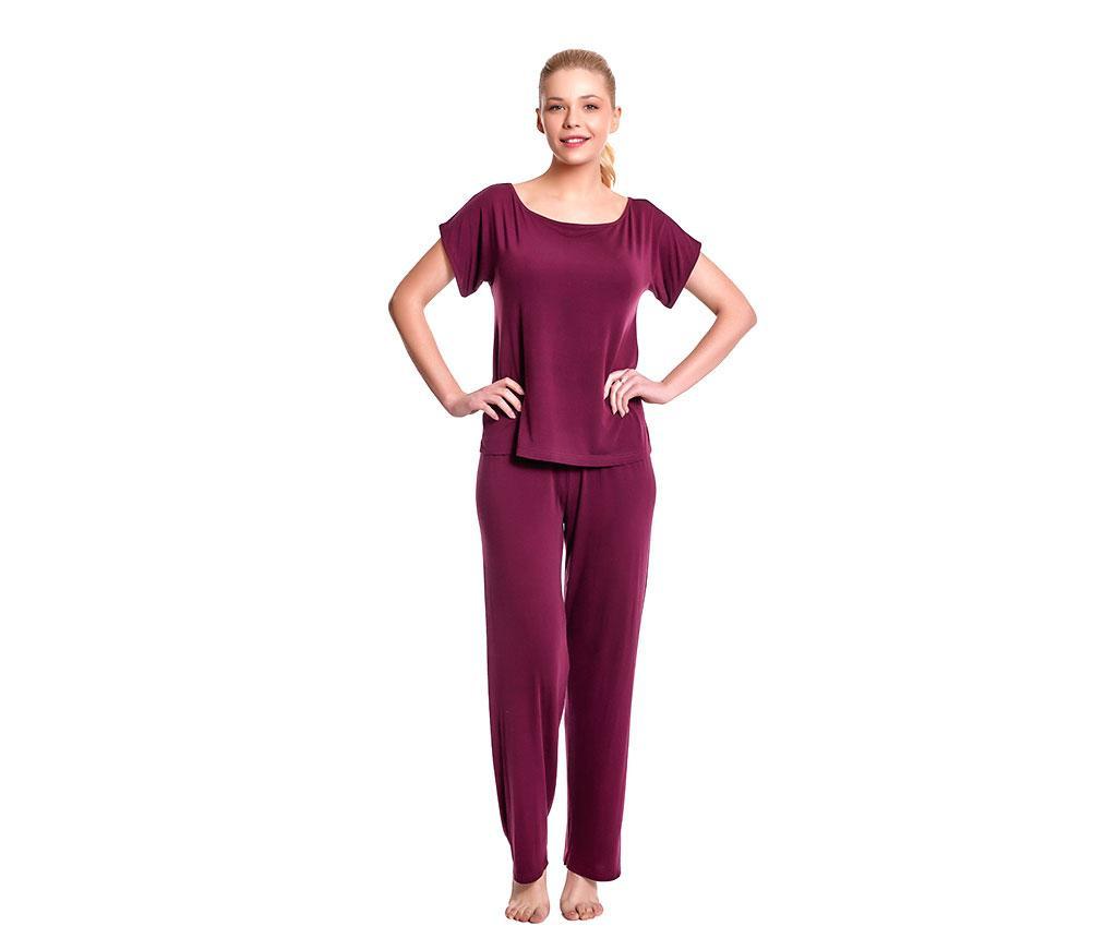 Pijama dama Lillian Red Wine XL