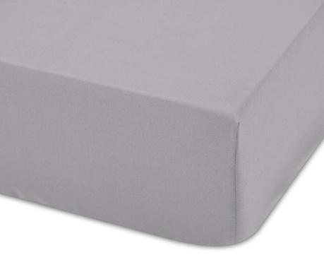Cearsaf de patut cu elastic Lisa Gris 70x140 cm