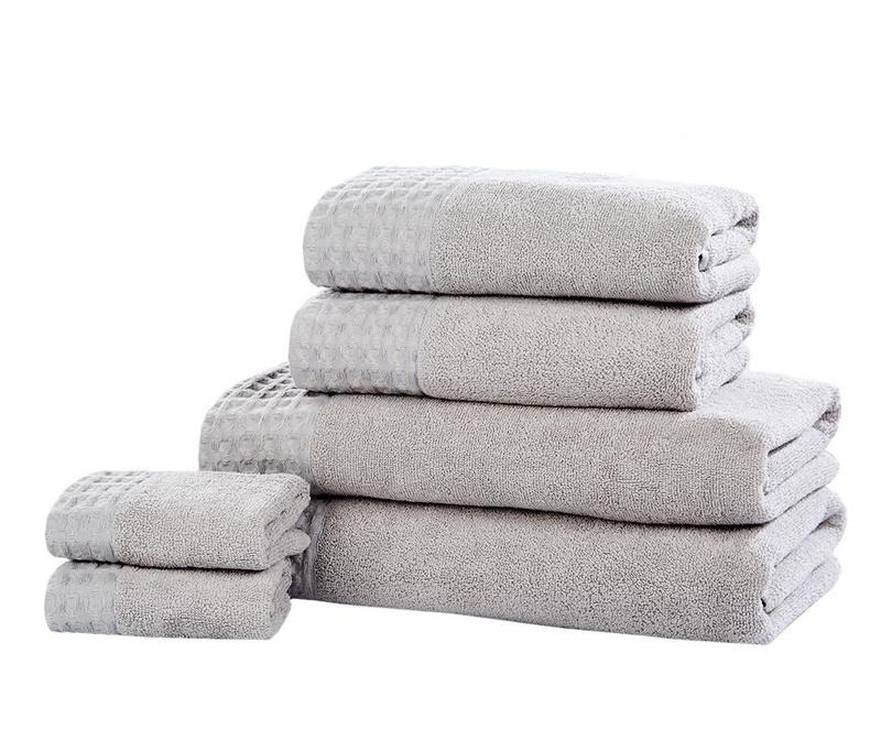 Set 6 kupaonska ručnika Retreat Silver