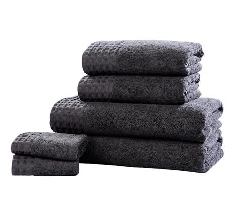 Sada 6 ručníků Retreat Charcoal
