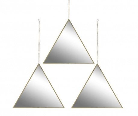 Zestaw 3 luster Triangles