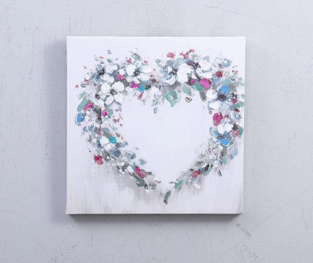 Sada 3 obrazov Hearts 30x30 cm