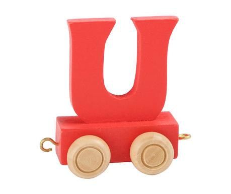 Igrača vlak iz črk - vagonček Letter U
