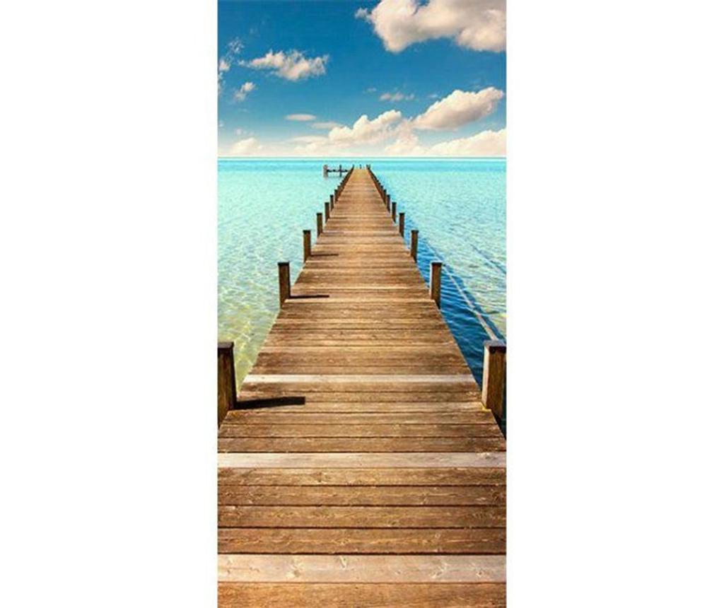 Turquoise Harbour Ajtótapéta 80x210 cm