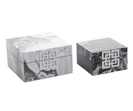 Set 2 cutii cu capac Deanna
