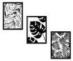 Set 3 tablouri Black and White Jungle