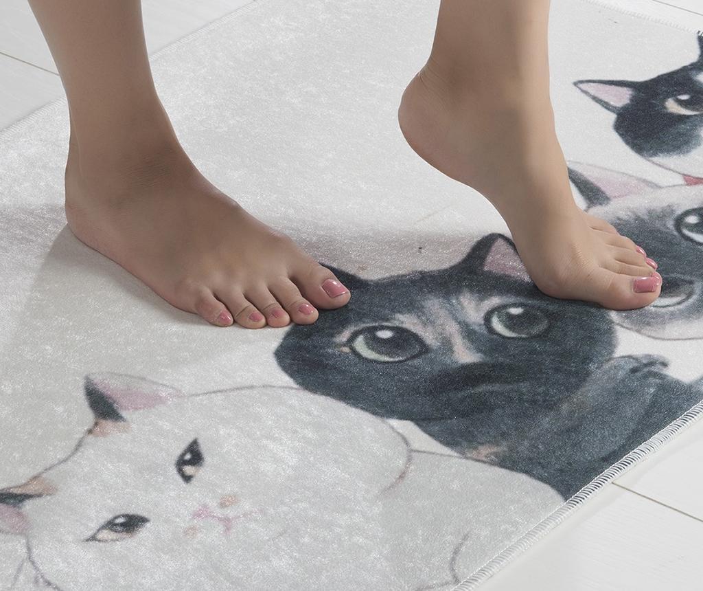 Kupaonski tepih Curious Cats 40x60 cm