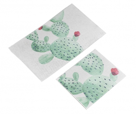 Cactus Flower 2 db Fürdőszobai szőnyeg