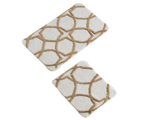 Bevis Cream 2 db Fürdőszobai szőnyeg