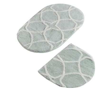 Bevis Oval Mint 2 db Fürdőszobai szőnyeg