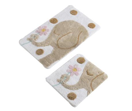 Elephant Brown 2 db Fürdőszobai szőnyeg