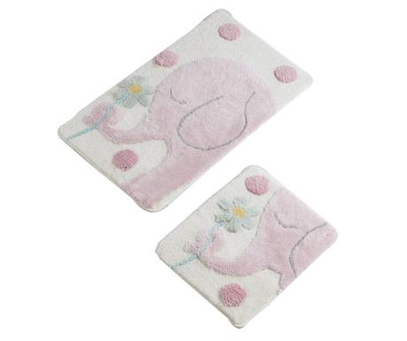 Elephant Pink 2 db Fürdőszobai szőnyeg