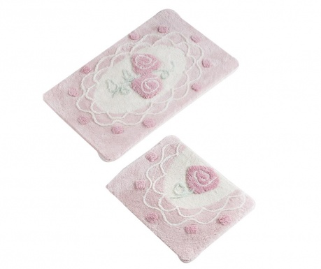Dantel Pink 2 db Fürdőszobai szőnyeg