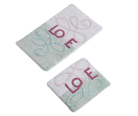 Love Mint 2 db Fürdőszobai szőnyeg