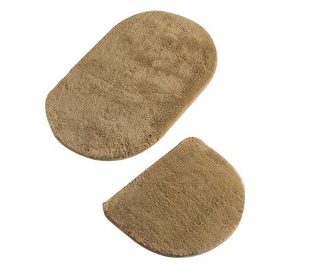 Oval Beige 2 db Fürdőszobai szőnyeg