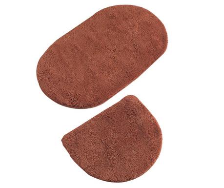 Oval Brick Red 2 db Fürdőszobai szőnyeg