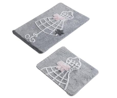 Elbise Grey 2 db Fürdőszobai szőnyeg