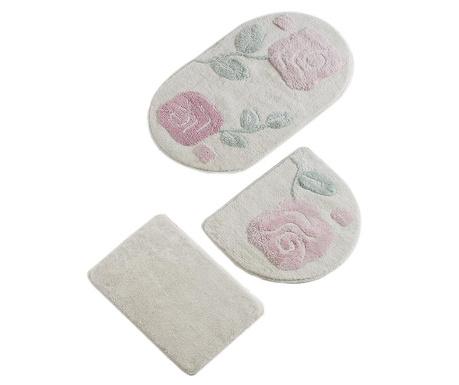 Branden Cream 3 db Fürdőszobai szőnyeg
