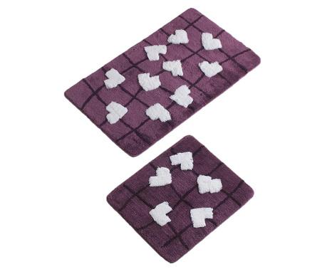 Kalbim Purple 2 db Fürdőszobai szőnyeg