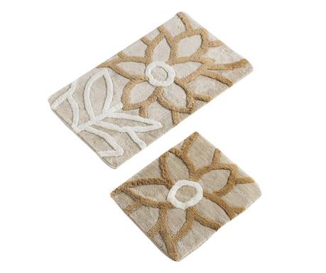 Natural Beige 2 db Fürdőszobai szőnyeg