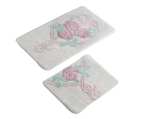 Heart Bouquet 2 db Fürdőszobai szőnyeg