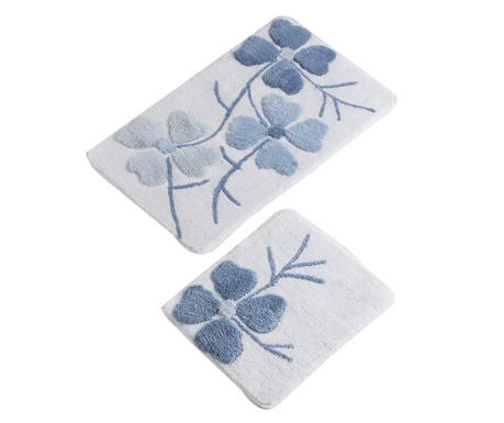Gene Blue 2 db Fürdőszobai szőnyeg