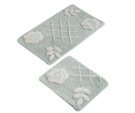 Pastel Mint 2 db Fürdőszobai szőnyeg