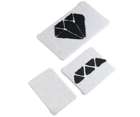 Σετ 3 χαλάκια μπάνιου Diamond Black White