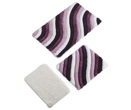 Hans Purple 3 db Fürdőszobai szőnyeg