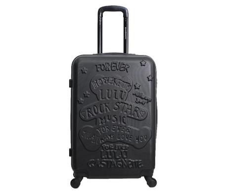 Βαλίτσα τρόλεϊ Rockstar Black