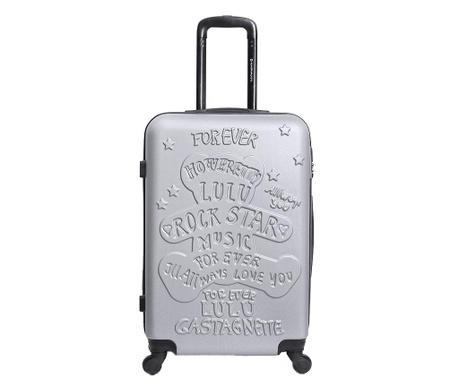 Βαλίτσα τρόλεϊ Rockstar  Grey