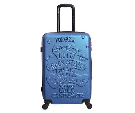 Kovček na kolesih Rockstar Blue 39 L
