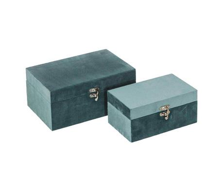 Set 2 cutii cu capac Danse Green