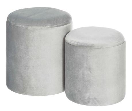 Set 2 taburejev Tomasa Grey