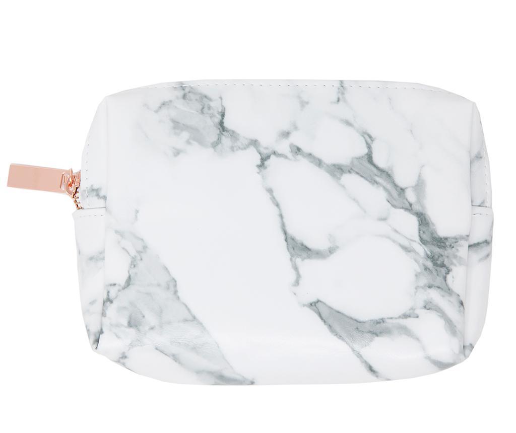 Set 7 čopičev za ličenje in kozmetična torbica Marble Effect