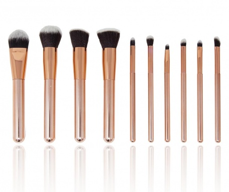 Sada 10 štetcov na make-up Luxurious Rosegold