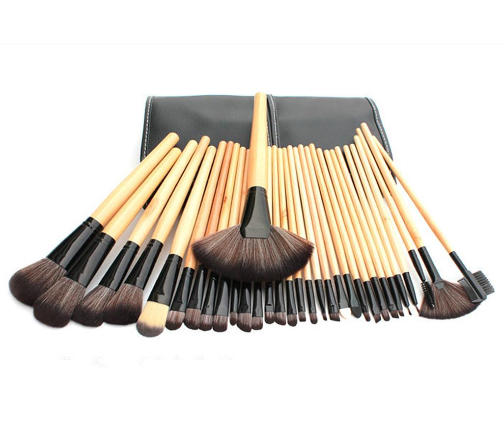 Set 32 pensule pentru machiaj si husa Face Art Cream
