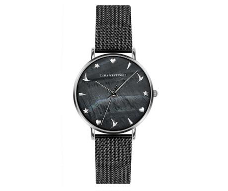 Γυναικείο ρολόι χειρός Emily Westwood Lotus Black