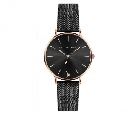Γυναικείο ρολόι χειρός Emily Westwood Purom Black