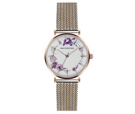 Γυναικείο ρολόι χειρός Emily Westwood Trivas Silver Gold