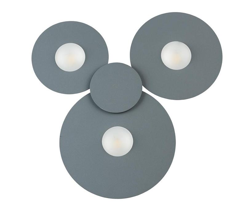 Stropna svjetiljka Perry Grey Three