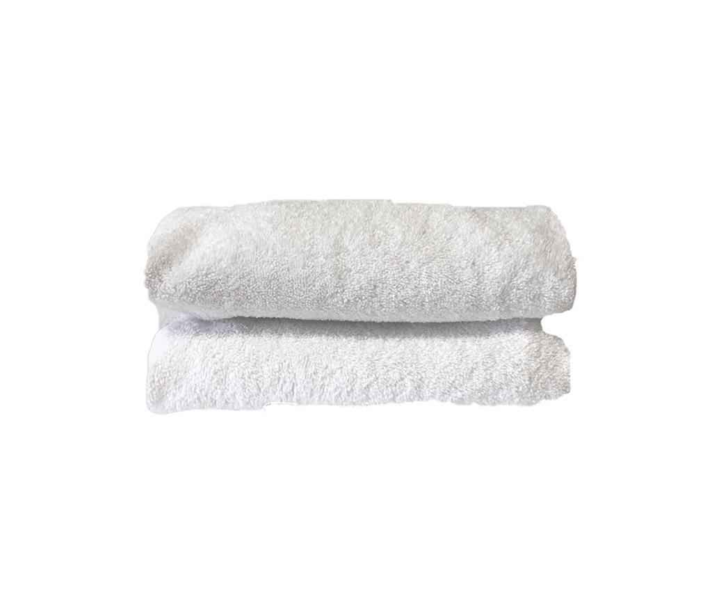 Kopalniška brisača Happy White 50x100 cm