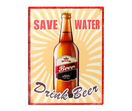 Dekoracja ścienna Save Water