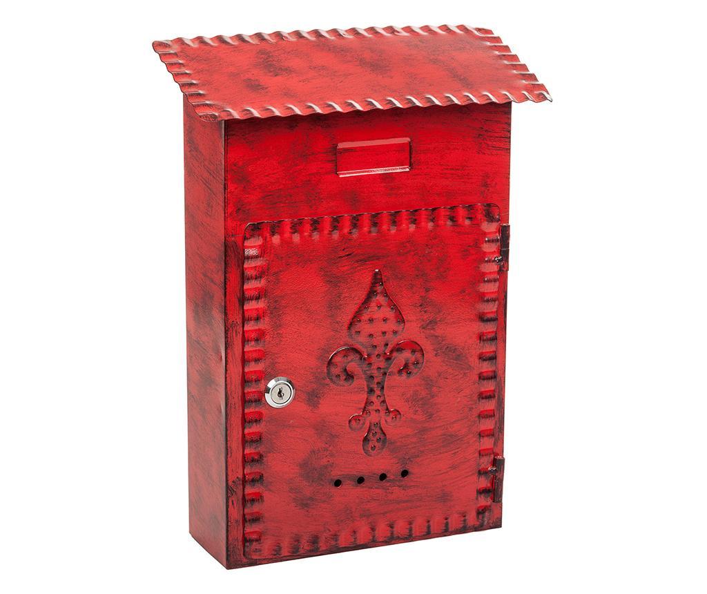Poštanski sandučić Fleur de Lis Red