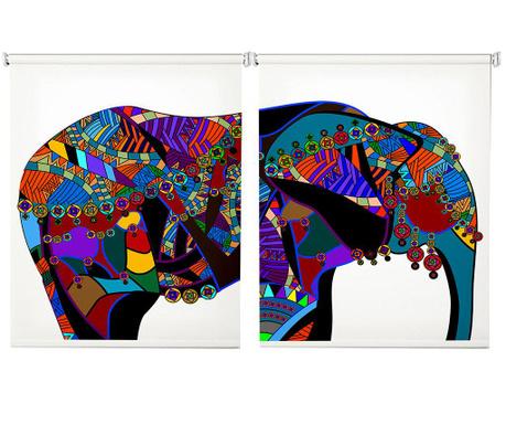 Set 2 rolo zaves Colorful Elephant 100x200 cm